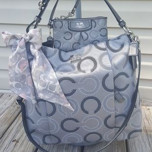 Coach Madison Grey Isabella Tote with wristlet